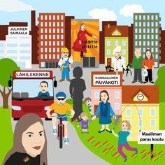 Vasemmistoliiton ihannekunta -illustration @ Stina Tuominen
