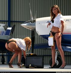 girls and planes | HansAir News - Aviation Glamour - Pilot at Undisclosed location ...