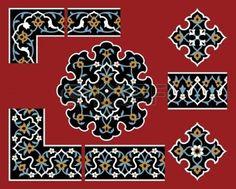 architecture arabic: Conjunto de elementos de diseño