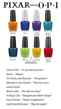 Disneybound's Pixar OPI collection!