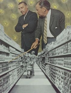 goudafresh:goudafresh:Hand cut paper collage by Goudafresh 'Mass Marketing'