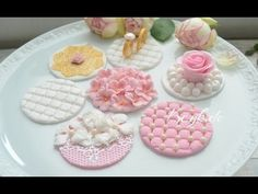 Hochzeits Cupcake Toppers aus Fondant - YouTube