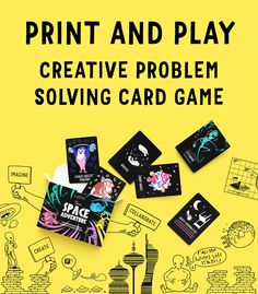 Print and play creative problem solving card game! LUPO: The Space Adventure more info www.lupoworld.com #education #cardgame #free #pedagogical #download #printandplay  #game #creature #fauna #flora #creativity #create #design #gbl #gamebasedlearning #assignment #school #classroom #primaryschool #alakoulu Problem Solving, Primary School, Free Games, Card Games, No Response, Positivity, Education, Math