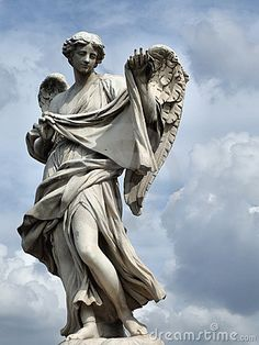 ANGEL STATUE IN ROME, ITALY