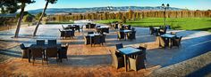 Hotel Rural Castillo de Biar (Finca Fanecaes): Terraza eventos