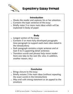 teaching how to write expository essays Great tips for getting started teaching expository writing to your third introducing expository writing they had to write their central idea and three.