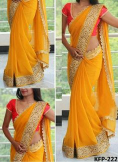 Here is a graceful collection bollywood saree of contemporary style heavy traditional bollywood saree for all you ladies who love to royal elite attires. The color combinations and patterns are also equally delightful. (Slight variation in color, fabric & Saree Blouse Patterns, Sari Blouse Designs, Indian Dresses, Indian Outfits, Indian Attire, Sarees For Girls, Indian Beauty Saree, Indian Sarees, Saree Trends