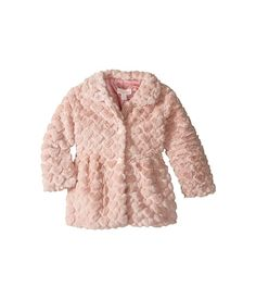 Pumpkin Patch Kids Faux Fur Bubble Jacket (Infant/Toddler/Little Kids/Big Kids) Dusty Rose - 6pm.com