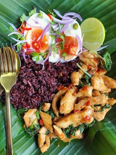 Healthy Dishes, Food Dishes, Easy Cooking, Cooking Recipes, Clean Recipes, Healthy Recipes, Eat Thai, Hotel Food, Thai Street Food