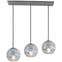 "Artcraft Brooklyn 30"" Wide Chrome Globe Pendant Light - #W8510 | LampsPlus.com"