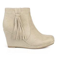 Brinley Co. Womens Faux Suede Tassle Round Toe Wedge Boot... https://www.amazon.com/dp/B01HSAB3PK/ref=cm_sw_r_pi_dp_x_XKOhybV88KN5M
