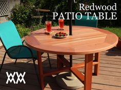 Make a patio table. Easier than you might think! Free plans.