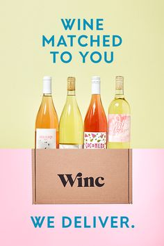 Get 2 Bottles On The House + Complimentary Shipping On Any Order! Winc makes amazing craft wines. We'll match you with the perfect bottle & deliver it right to your doorstep. Only $13/bottle and you can cancel anytime. Use Code 021PIN at checkout for $26 OFF your first order!