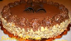 Greek Desserts, Party Desserts, Greek Recipes, Sweets Cake, Cupcake Cakes, Cheesecake Ferrero Rocher, Fererro Rocher, Sweets Recipes, Cooking Recipes