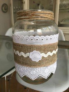 Crafts With Glass Jars, Wine Bottle Crafts, Mason Jar Crafts, Bottle Art, Nifty Crafts, Diy Home Crafts, Recycled Decor, Jar Design, Jar Art