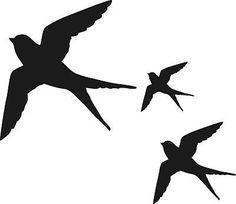 swallow birds, window, wall, conservatory stickers, caravan home stickers Flying Bird Silhouette, Animal Silhouette, Silhouette Art, Barn Swallow, Swallow Bird, Phenix Tattoo, Sparrow Tattoo, Bird Stencil, Silhouette Tattoos