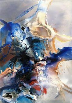 """Ursi Goetz, """"Die Unendlichkeit des Malens"""" Mit einem Klick auf """"Als Kunstkarte versenden"""" versenden Sie kostenlos dieses Werk Ihren Freunden und Bekannten."""