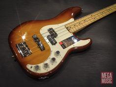 Fender American Elite Precision Bass Tobacco Sunburst #fender #fenderbass #fenderbassguitar #fenderpbass #pbass #precisionbass #fenderprecisionbass #bass #bassguitar #megamusic #megamusicmyaree
