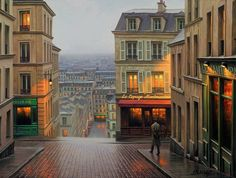 Alexey Butyrsky is a Russian artist who paints big cities like Paris, Venice or San Francisco with an impressive realism