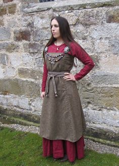 Hangeroc - Wool Viking Apron Dress. 95.00, via Etsy.