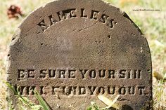 Nameless    Be Sure Your Sin Will Find You Out