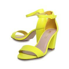 paige, yellow shoe by miss kg - women shoes party shoes & occasion