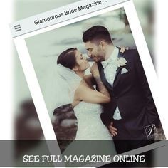 FREE ONLINE FULL MAGAZINE &Vendors , Real Wedding Couples  See the finest photographers /  trendy shoots / real weddings /click here on cover to see 2017 edition  www.glamourousbridemagazine.com