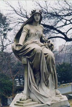 ☫ Angelic ☫ winged cemetery angels and zen statuary -Woodlawn Cemetery Cemetery Monuments, Cemetery Statues, Cemetery Headstones, Old Cemeteries, Cemetery Art, Angel Statues, Graveyards, Woodlawn Cemetery, Cemetery Angels