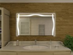 LED Spiegel Lichtspiegel Florenz Badspiegel Pinterest
