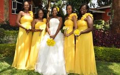 8 Different Looks for Your Bridesmaids - Kenya Weddings : Wedding Gowns   Venues   Planners   Honeymoon...and more - Get Inspired