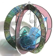Mountain Music  Small Stained Glass 3D by katiediditglass on Etsy