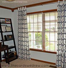 stencil pattern for drapery panels