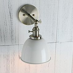 Permo 6.3-Inch Metal Dome Shade Industrial Wall Sconce Lighting Fixture (Black)