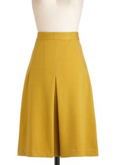 Teach Her Own Skirt, #ModCloth-- very similar to Boden's Inverted Pleat skirt, but in younger colors.
