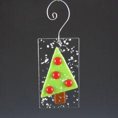 Items similar to Ornament Fused Glass Christmas Tree - purple glass bulbs - Great Teacher Gift on Etsy Fused Glass Ornaments, Fused Glass Jewelry, Fused Glass Art, Glass Pendants, Glass Christmas Decorations, Stained Glass Christmas, Glass Christmas Ornaments, Sea Glass Mosaic, Glass Fusion Ideas