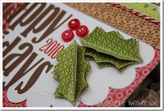 more sewing for my scrap pages. Love it on these leaves.