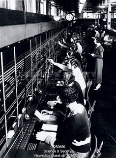 Old fashioned telephone exchange worker 29