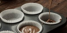 Almost-Guiltless Peanut Butter Cups. Go ahead have another there's nothing better than a guilt-free peanut butter and chocolate treat. Low Carb Desserts, Healthy Dessert Recipes, Candy Recipes, Wine Recipes, Healthier Desserts, Protein Recipes, Clean Recipes, Chocolate Peanut Butter Cups, Peanut Butter Protein