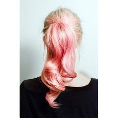Pastel Pink Ponytail. Decalz - Bridget Bishop | Lockerz ❤ liked on Polyvore featuring hair, hairstyles and pictures