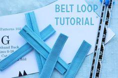belt loop tutorial from The Coletterie #sewing #tutorial #sewingtutorial