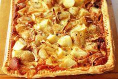 Potato, onion and Brie tart