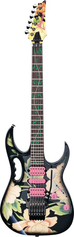 Ibanez JEM77 The lovely Floral Jem, apparently Steve Vai designed this guitar based on the curtains in his studio :0)
