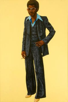 Barkley Hendricks (b. 1945)  Noir, 1978.  Oil and acrylic on canvas; 72 x 48 inches.