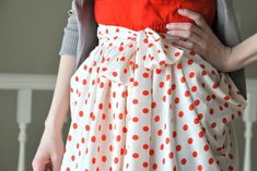 Tutorial: Gathered Drape Skirt with side pockets
