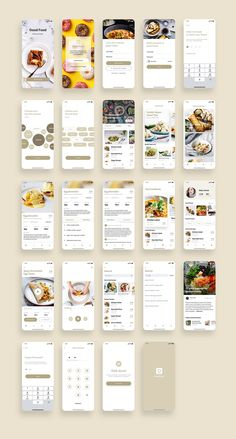 Good Food Recipes App UI Kit UI Place Good Food Recipes App UI Kit is a pack of delicate UI design screen templates that will help you to design clear interfaces for food recipe app faster and easier. File includes all recent Sketch App features suc Ios App Design, Mobile App Design, Android App Design, Logo Design, Design Design, Wireframe Design, Flat Web Design, Mobile App Ui, User Interface Design