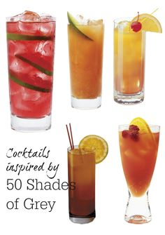 50 Shades of Grey is so hot right now. Check out these fabulous tequila based cocktails that are inspired by the movie and the books. Recipes for 5 drinks.