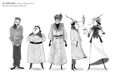Characters I did for the Annecy opening short. Here is the movie : https://vimeo.com/169694298