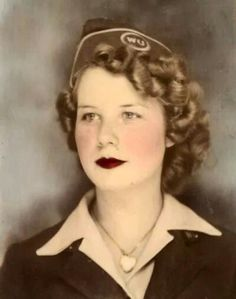 I love her hair! Woman from WW2.