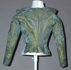 Jacket (Caraco) Date: ca. 1785 Culture: Italian Medium: silk