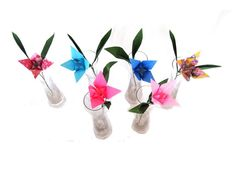 Paper Lily 6 Half Dozen Origami Lily Origami by GraceinCrease